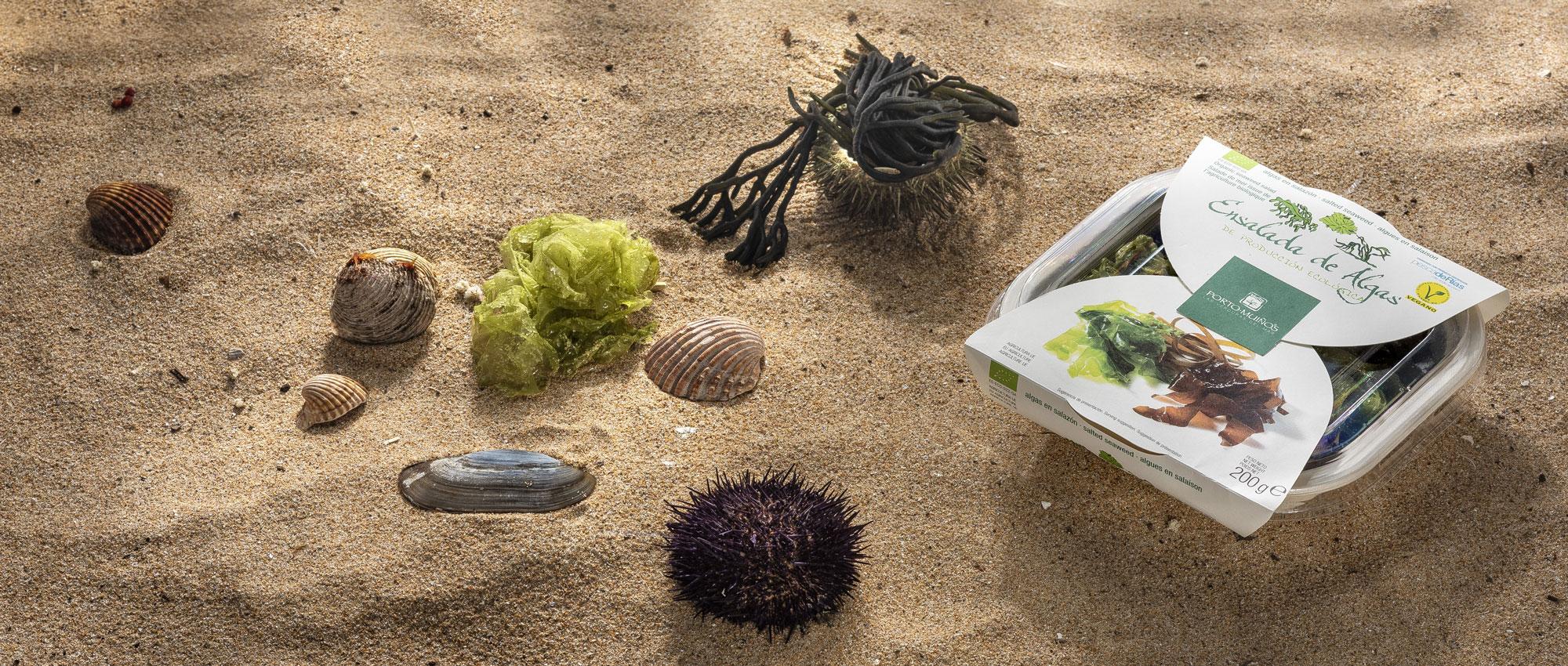 Algas frescas en salazón
