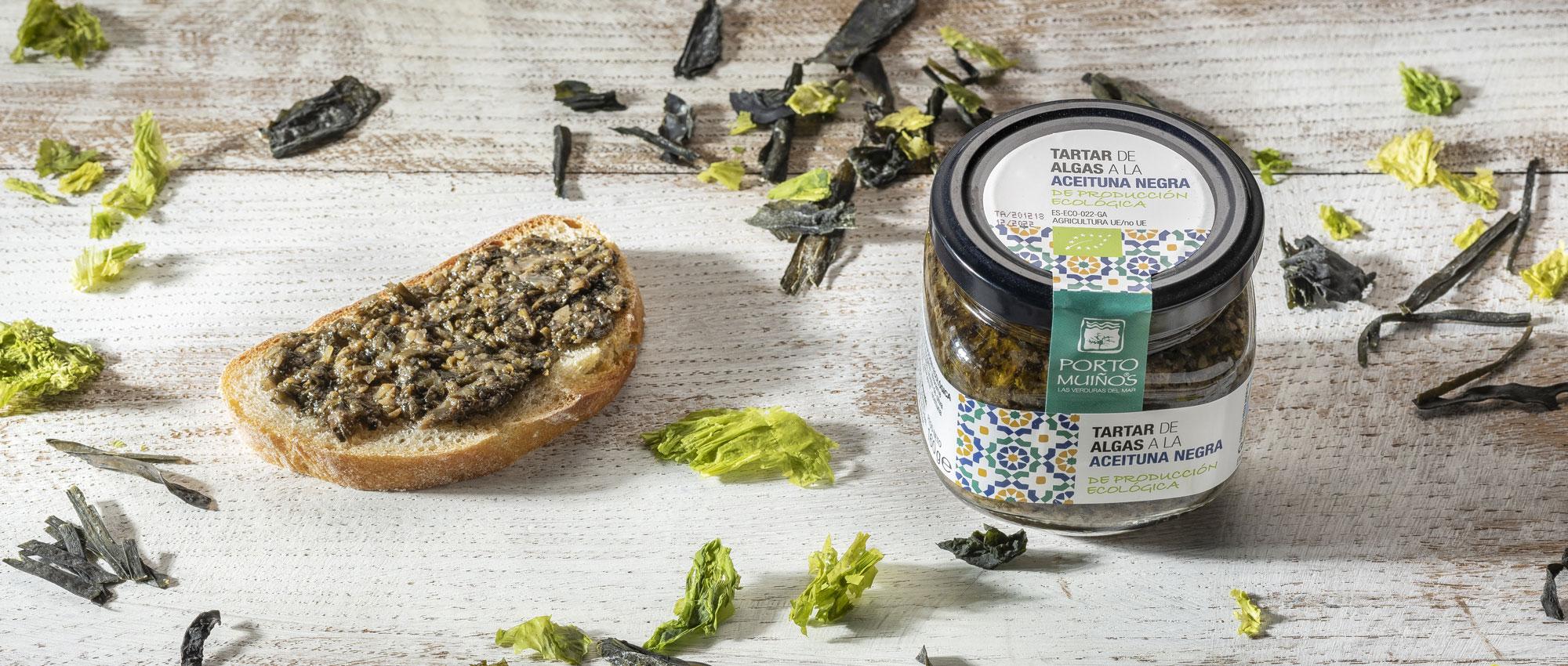 Tartar y salsas de algas