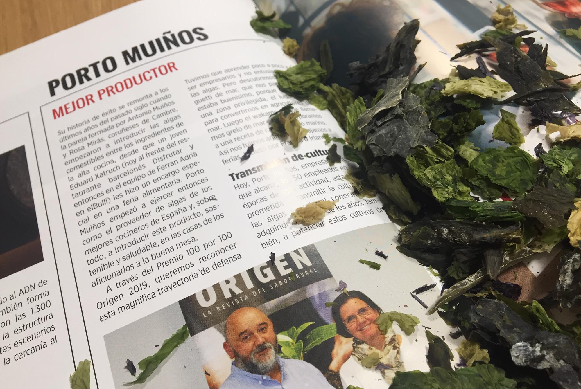 PREMIOS CIEN POR CIEN ORIGEN: Porto-Muiños, mejor productor